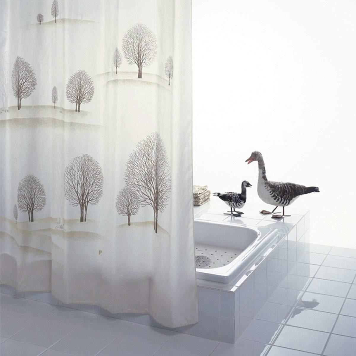 CURTAIN HOME しわ防止砂漠の木強化された防水カビポリエステル浴室のシャワーカーテンプラスチックフック付き増加浴室付属品 (Size : 180cm*200cm) B07NRYR64P  180cm*200cm