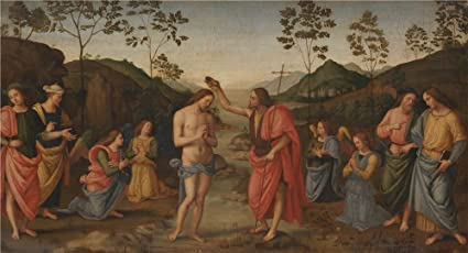 Image result for baptism of christ painting