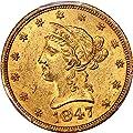 1847 O $10 Liberty Gold Ten Dollar MS61 PCGS\CAC