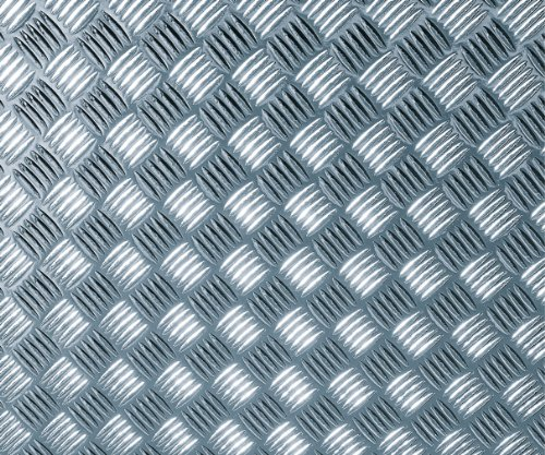 d-c-fix Sticky Back Plastic (self adhesive vinyl film) Metallic Chequered Plate High Gloss Silver 90cm x 1.5m 340-5060 by d-c-fix -