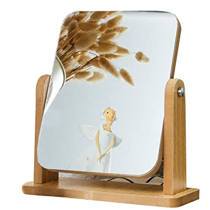 Desktop Mirror Maquillage En Bois Miroir De Bureau Simple