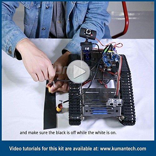 Jual Kuman Sm5 Th Wireless Wifi Robot Car Kit With Video Tutorial