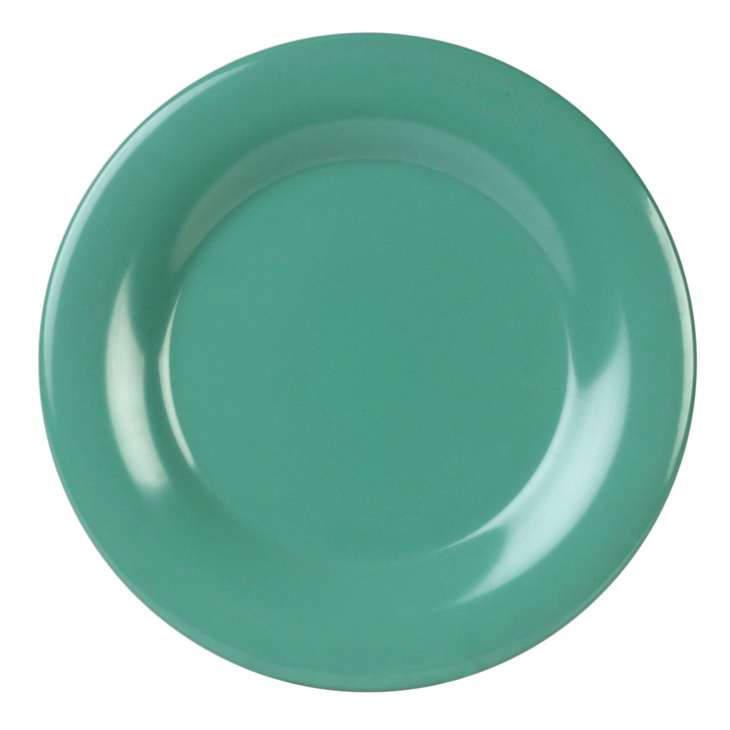 Global Goodwill Coleur Series 12-Piece Wide Rim Plate, 6-1/2-Inch, Coleur Green