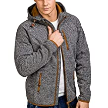 WuyiMC Men's Full-Zip Hoodies -Long Sleeve Pullover Sweatshirt Hoodie Coat Top