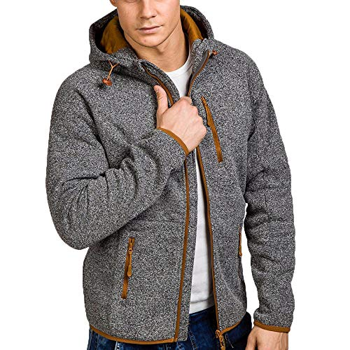 Muramba Clearance Mens Autumn Winter Casual Front Zipper Hoodie Coat Top