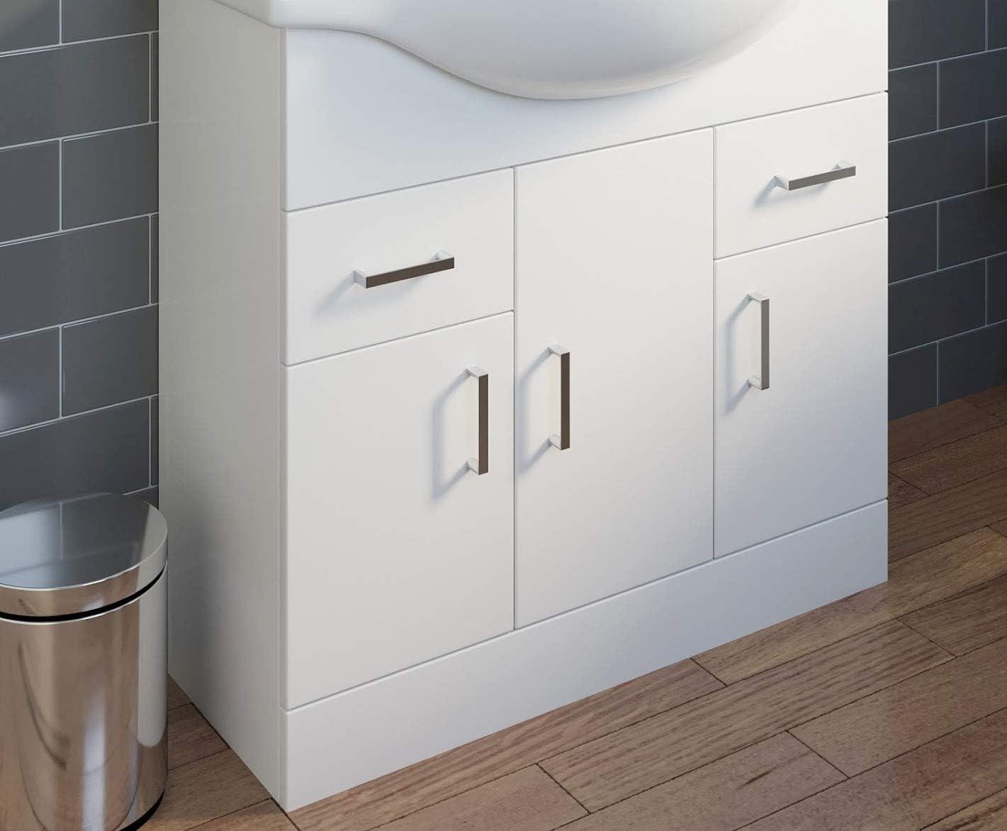BASIN /& TAP NOT INCLUDED Plumbworld 850mm Floorstanding Bathroom Vanity Unit ONLY