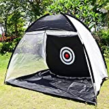 VGEBY Golf Practice Net, Foldable Golf Driving Hitting Net Golf Training Target Tent Exercises Cages