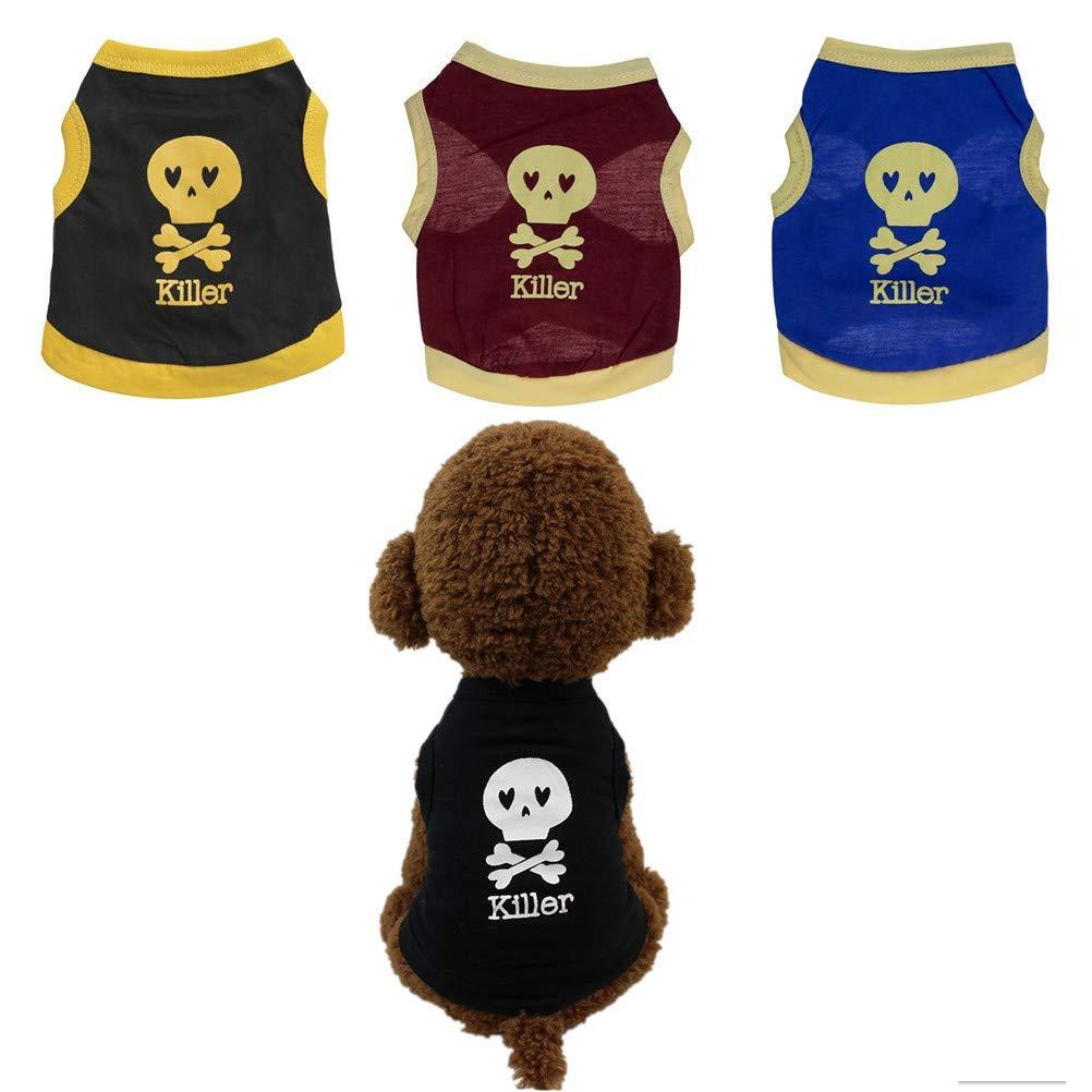 Hawkimin Pullover f/ür Hunde xs Sommer Hundebekleidung Baumwolle T-Shirt Welpen Kost/üm f/ür kleine Hunde