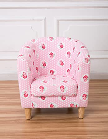 other children s pink floral new style tub chair amazon co uk