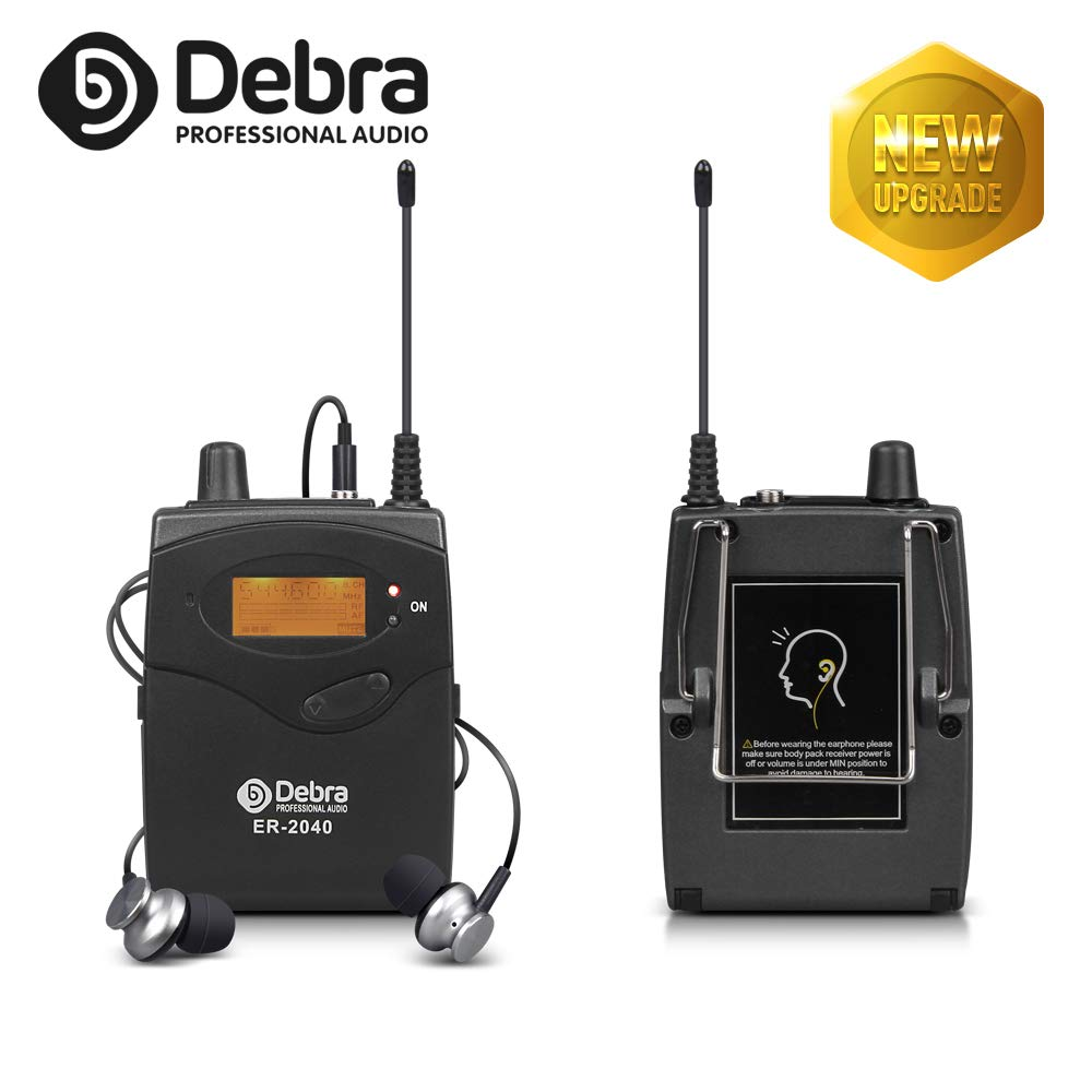 Top Qulailty!!!The New Type Professional 40 channel In Ear Monitor System ER180 For Stage Recording Studio Monitoring