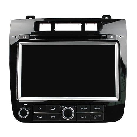 kunfine Octa Core Android 6.0 Coche Reproductor de DVD GPS navegación Multimedia estéreo para Volkswagen Touareg