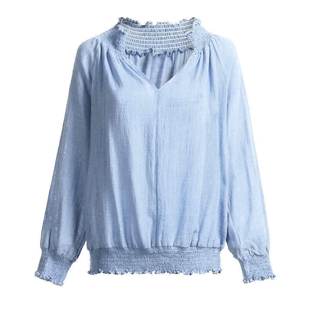 ZODOF Mujer Camiseta Cortas 2019 Primavera Verano Ropa Moda Manga Larga Blusa Tops