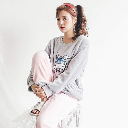 JYLW Pijamas Invierno Mujer Extra Thick Plus Size Warm ...