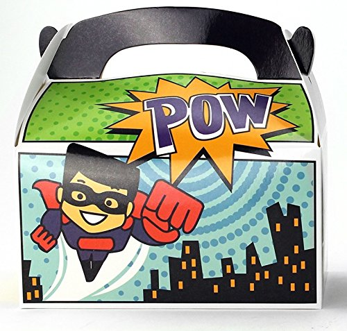 Ifavor123 Superhero Party Favor Treat Boxes for Kids Birthday - 24 Pack -