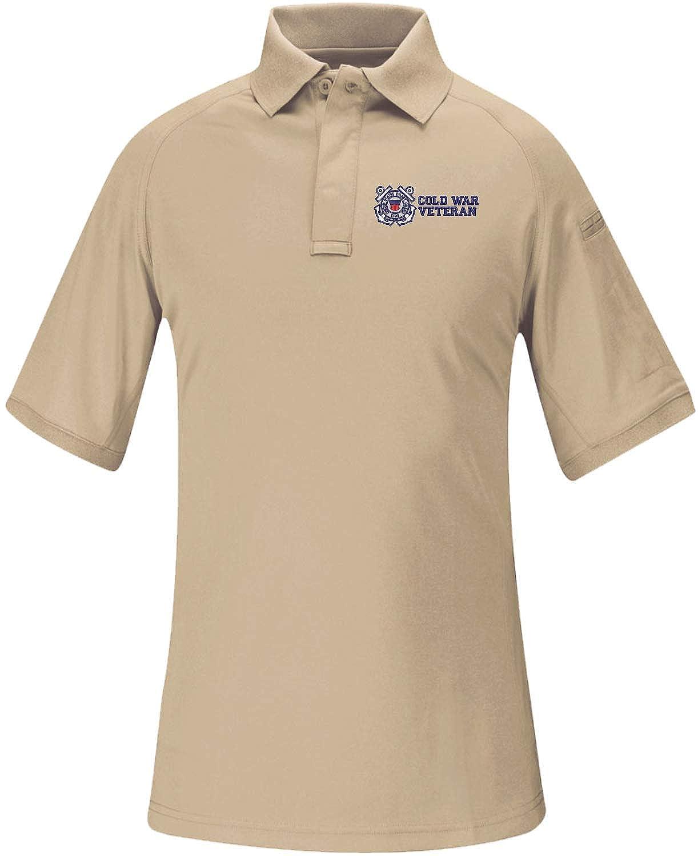 Coast Guard Cold War Veteran Snag Free Tactical Polo Shirt MilitaryBest U.S