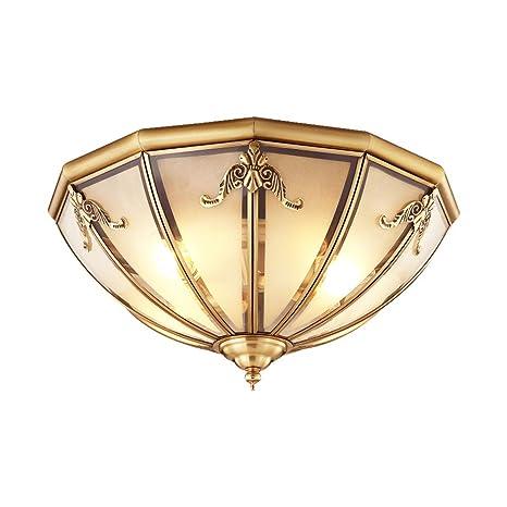 E27 Lámpara de techo de dormitorio americano Lámpara de ...