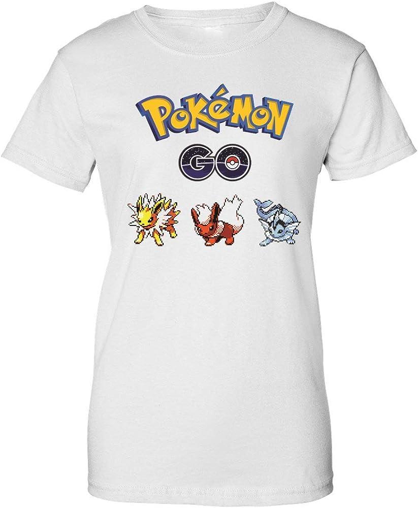 Pokemon GO Pixel Pokemon Logo Camiseta de Mujer XX-Large: Amazon.es: Ropa y accesorios