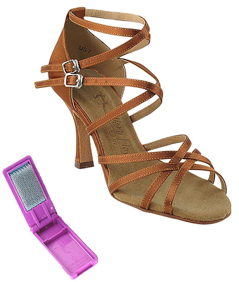 [Very Fine Dance Shoes] レディース B071JZNNW4 ダークタンサテン 8 B(M) US