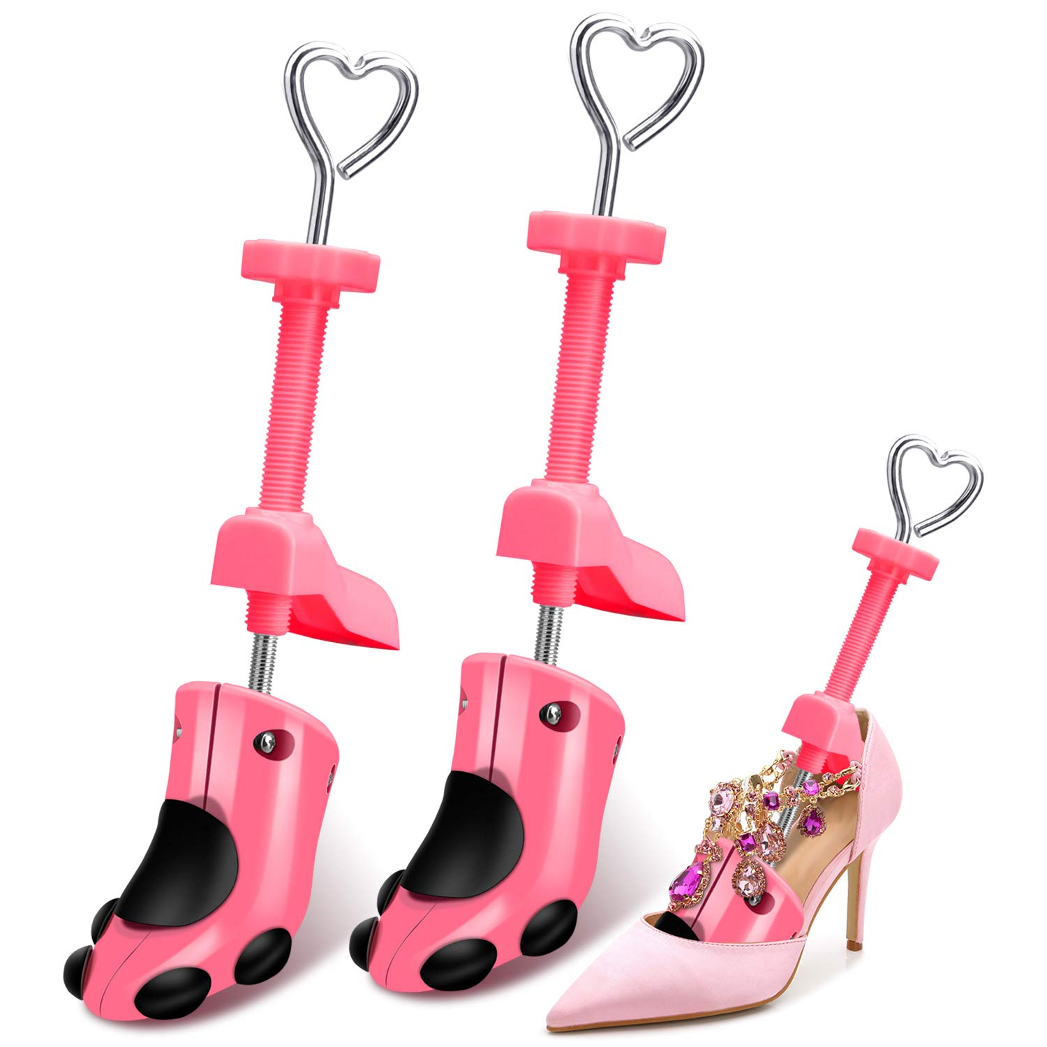 XYH Shoe Stretcher Women,womens high heel shoe stretcher Adjustable Length and Width Durable Shoe Shaper for Women (pink) by XYH