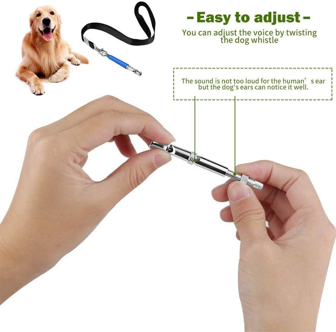 with Lanyard Strap Beylos Dog Whistle Bibetter Professional Ultrasonic Dog Training Whistle to Stop Barking Teaching and Recall Adjustable High Pitch Training Assistant