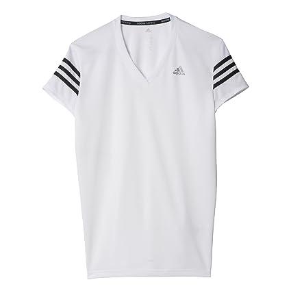 adidas RS Cap SS W - Camiseta para Mujer, Color Blanco/Negro, Talla
