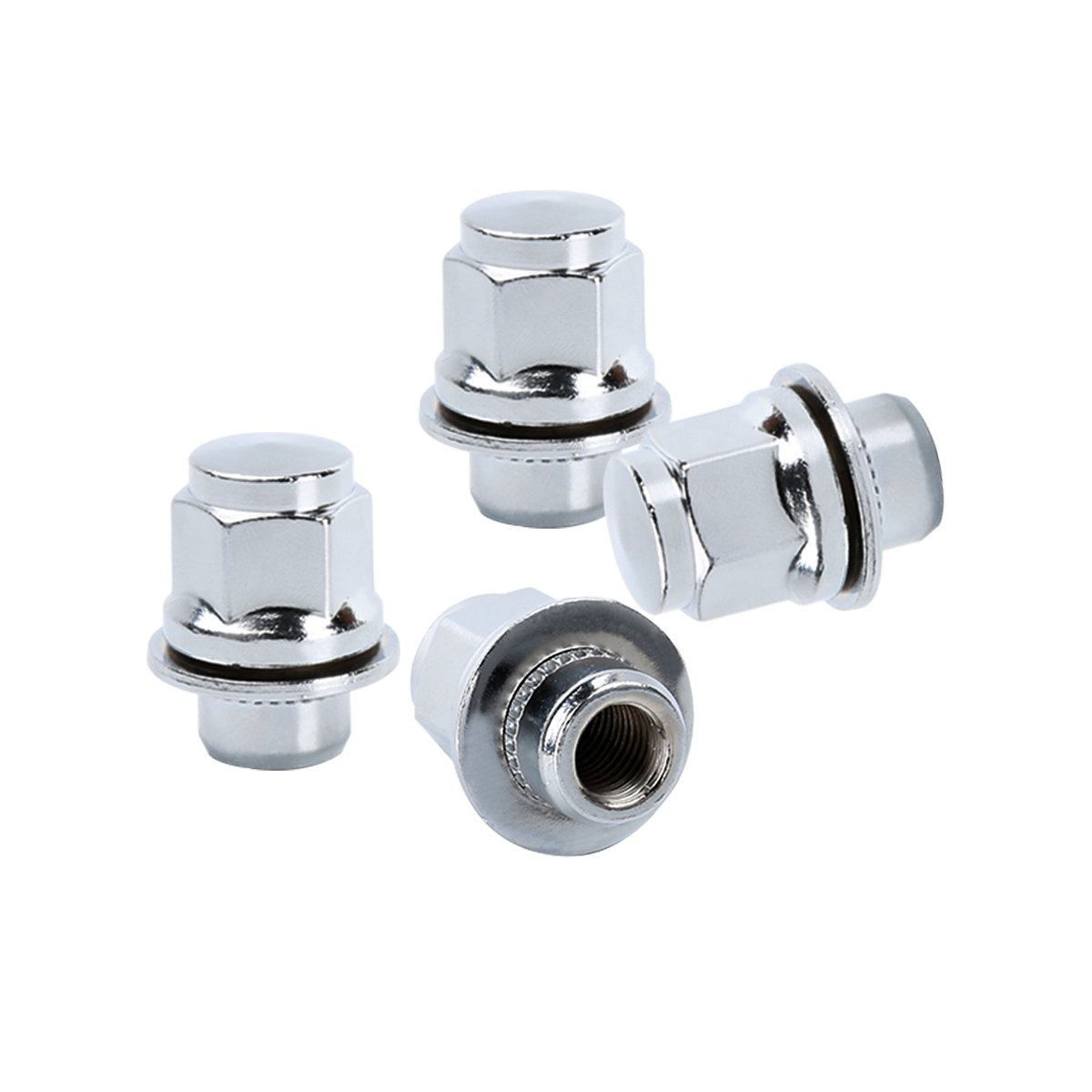 21mm Hex 13//16 Chrome Mag Style Lug Nuts with Washer Closed End for Toyota Lexus Scion Factory Aluminum Wheels Goldenlion KSP Performance 24PC 12x1.5 Thread Pitch