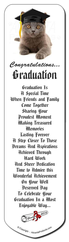 Graduación del gato azul 'Congratulations 2014' Marcador, regalo de de de Navidad rell 9734b6
