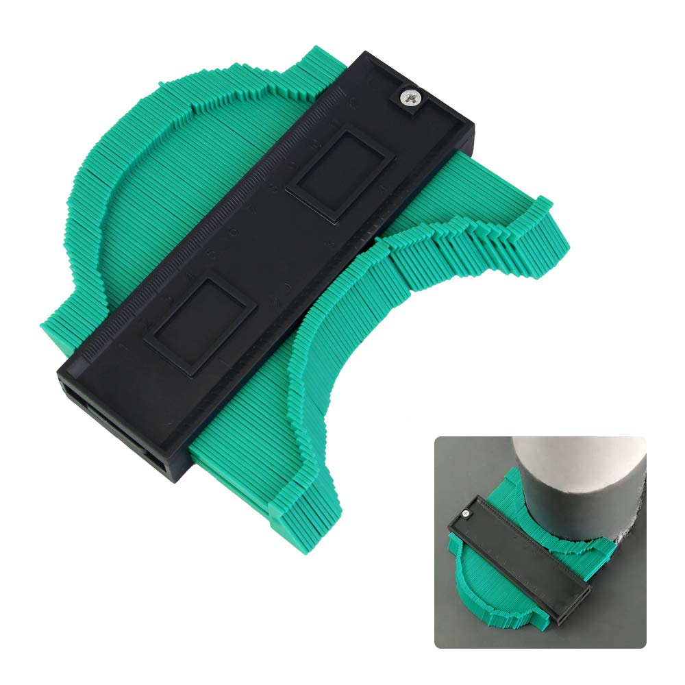 TANCUDER 145 mm Perfil Contour Gauge 20 mm Deep Form Contour Messger/ät Decorating Template Copying profesional Contur para baldosas