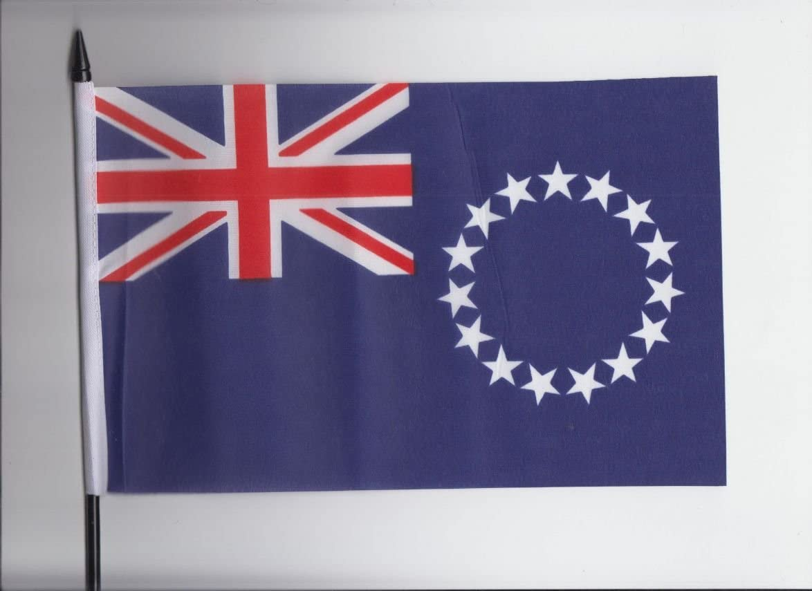 Cook Islands Medium Hand Held Flag 23cm x 15cm