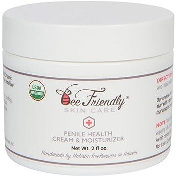 Organic Penile Health Cream By BeeFriendly, USDA Certified 100% Natural Penis Cream Moisturizer Aids