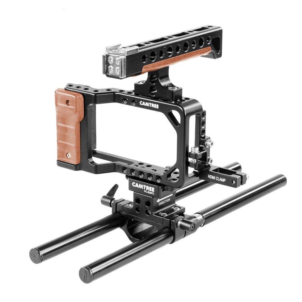 Camtree Camtree Hunt Professionalアルミカメラケージfor Blackmagic Pocket Cinema Cinema Camera Camera BMPCC withトップハンドル+ Cold靴+ 15 mmロッドサポート 三脚&アクセサリー取り付けオプション(ch-pc-bmpc) B00JB1TBIQ, 大分県国東市:c51f1abd --- integralved.hu