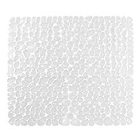iDesign Pebblz Plastic Non-Slip Suction Bath Mat, for Shower, Bathtub, Stall, 22