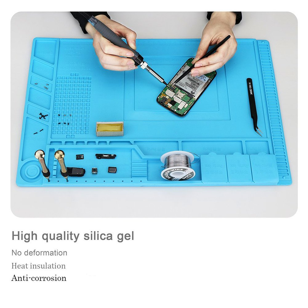 Silicone Insulation Pads 500℃ Heat Resistant Soldering Mat with ...