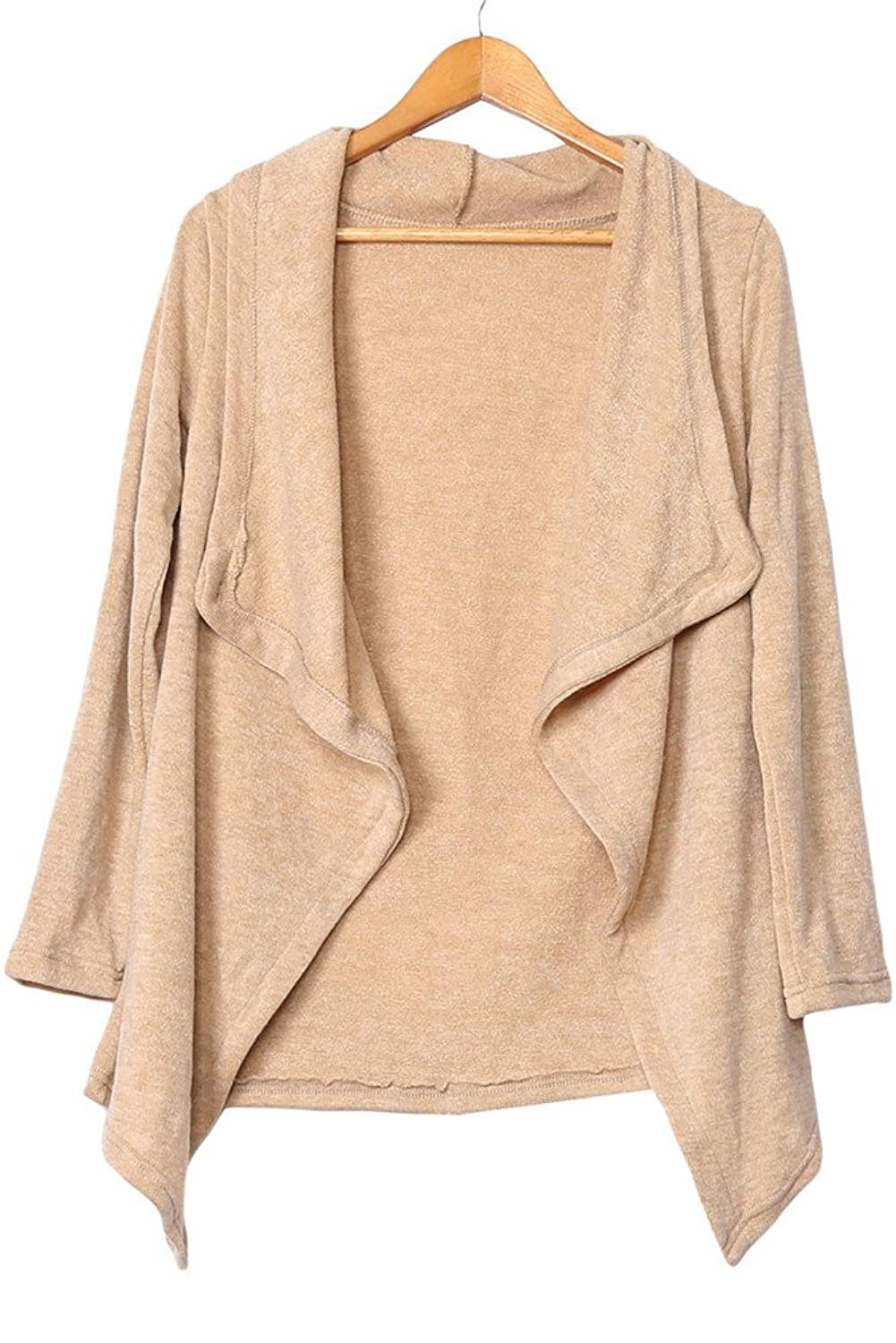 Ussuperstar Women's Go-to 3/4 Sleeve Asymmetric Wrapped Cardigan Sweater