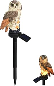 Owl Shape Solar Powered LED Outdoor Decorative Pathway Lamp,Solar Waterproof Garden Stake Lights,Owl Ground Decorative Light,for Walkway Yard Lawn Landscape Lighting(1 pc)