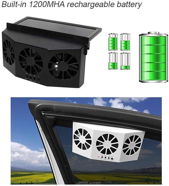 DishyKooker Sicuro Portatile Ventilatore da Auto 3 K per 1 Ventilatore a energia Solare K per 1 Uscita