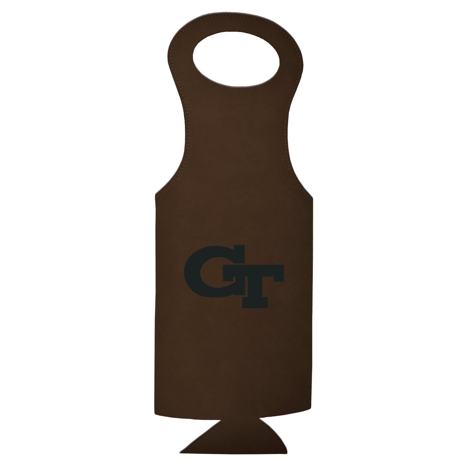 Georgia Institute of Technology-Velour Wine Tote-Brown