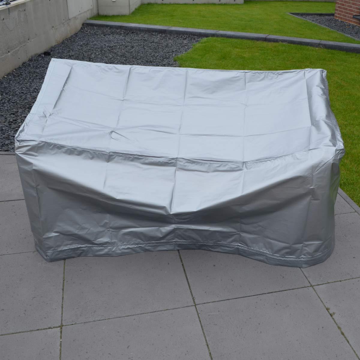 Schutzhülle für Gartenmöbel Stappelstühle Sitzbank Abdeckplane Hülle Regenschutz