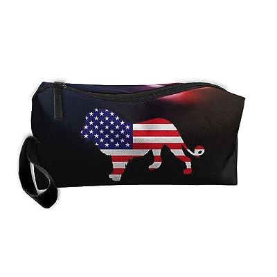 0515236fec American Flag Lion Portable Multi-function Handbag All-match Sewing Kit  Cosmetic Bag good