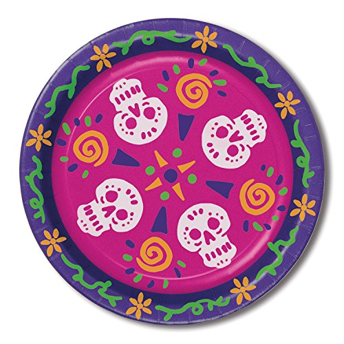 Beistle 00939 8 Piece Day of the Dead Plates, 9