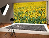 7x5ft Yellow Sunflowers Photographic Background Natural Scenery Photo Backdrop for Children Backdrops
