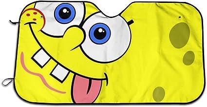 Parabrezza per Auto Protezione Raggi UV M GFHTH The Spongebob Parabrezza Parasole Parasole per Auto Parasole Pieghevole Panno di Protezione Visiera Coperchio con Ventose