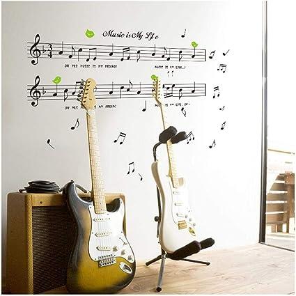 Lkj 70 120 Cm La Musica E La Mia Vita Tema Musica Camera Da Letto Decor Musica Da Ballo Nota Adesivo Da Parete Rimovibile Amazon It Casa E Cucina