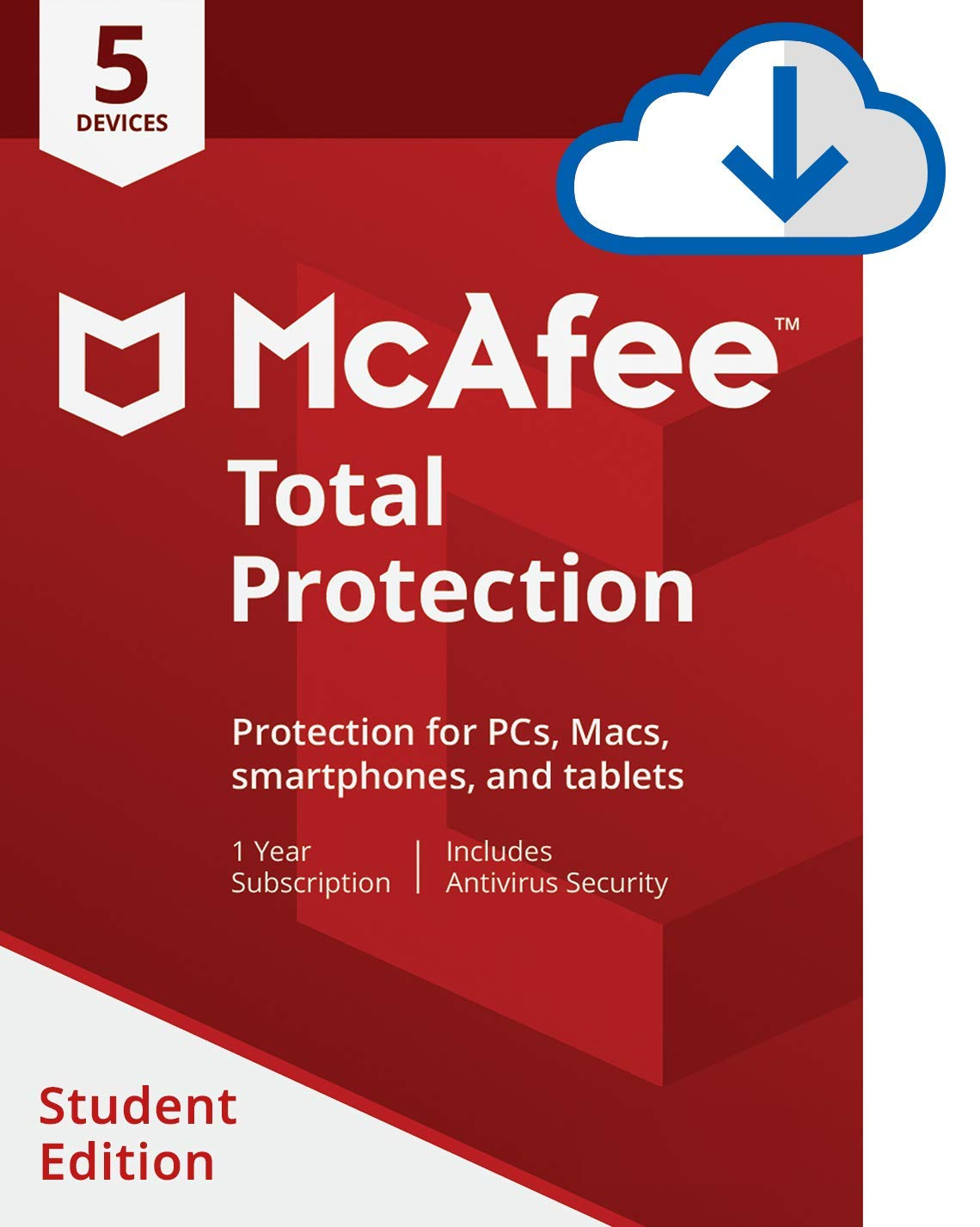 McAfee Total Protection 5 Device Student Edition [Online Code] by McAfee