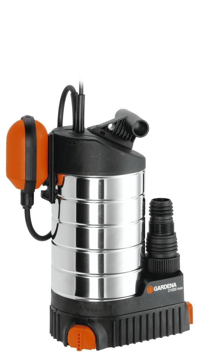 ... inox Premium de GARDENA: bomba de aguas limpias, caudal 21 000 l/h, motor silencioso y sin mantenimiento de 1000 W, interruptor de flotador,y cable de ...