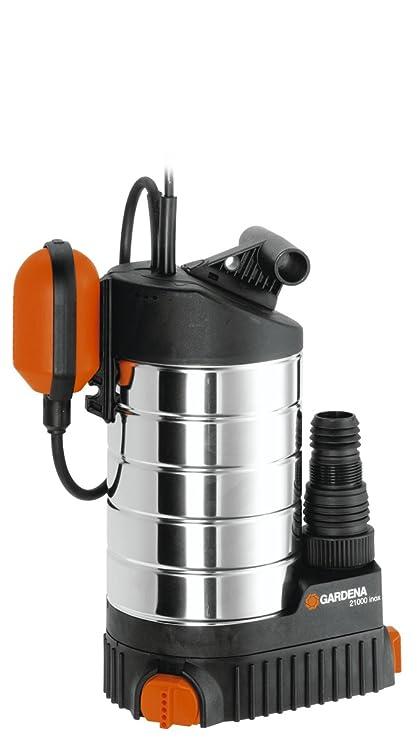 Bomba sumergible 21000 inox Premium de GARDENA: bomba de aguas limpias, caudal 21 000