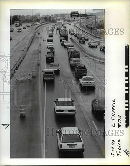 Amazon com: Vintage Photos 1990 Press Photo Portland Traffic