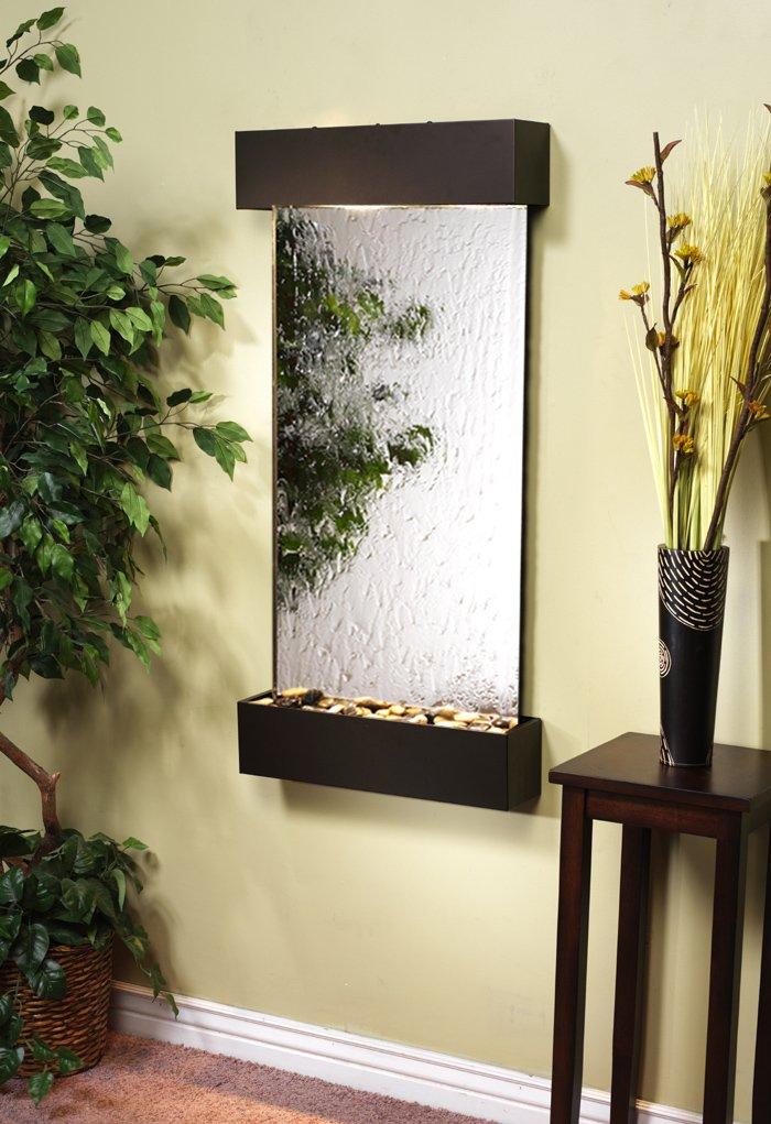 Waterfall Wall WCS3540 - Antique Bronze-Silver Mirror - Adagio Whispering Creek