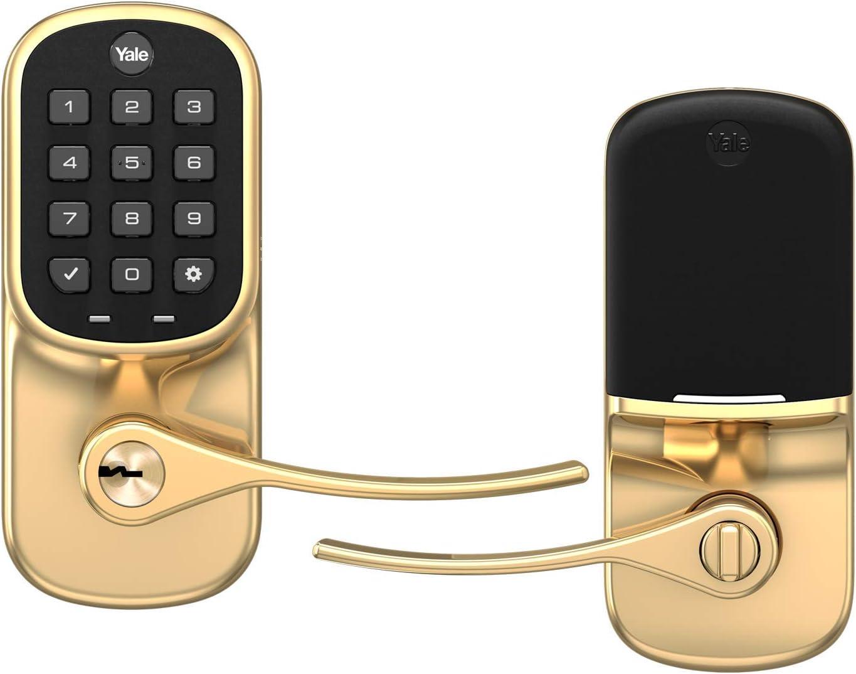 Yale Assure Lever - Keypad Lever Lock - Brass