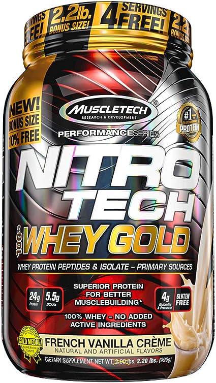 Muscletech Performance Series Nitro Tech 100% Whey Gold French Vanilla Crème - 1134 gr